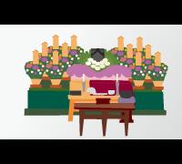 5.葬儀。葬儀はご遺族・ご親族、特に親交のあった人たちが故人のご冥福を祈る儀式です。